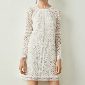 NWT BCBGMaxazria white lace dress